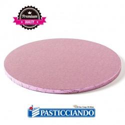 Vendita on-line di Sottotorta rigido rotondo rosa D.40 H1,2 cm Decora