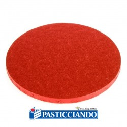 Selling on-line of Sottotorta bakery rotondo rosso D.45 H1,2 cm Decora