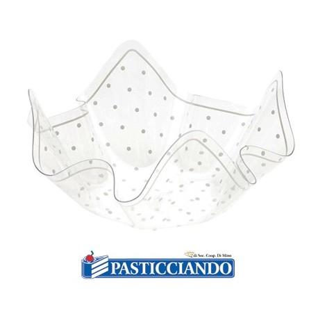Contenitore grande pois bianco confettate -