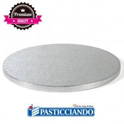 Selling on-line of Sottotorta rigido rotondo argento d.60 h1,2 cm Decora