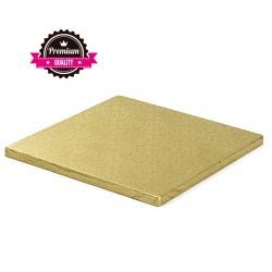 Vendita on-line di Sottotorta rigido quadrato oro d.30x30 h1,2 cm Decora