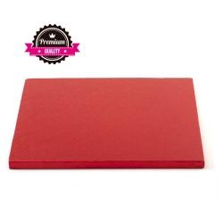 Vendita on-line di Sottotorta rigido quadrato rosso d.30 h1,2 cm Decora