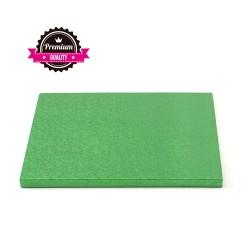 Vendita on-line di Sottotorta rigido quadrato verde scuro 30x30 h1,2 cm Decora