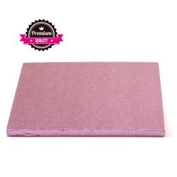 Vendita on-line di Sottotorta rigido quadrato rosa 30x30 h1,2 cm Decora