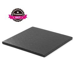 Vendita on-line di Sottotorta rigido quadrato nero 30x30 h1,2 cm Decora