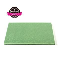 Vendita on-line di Sottotorta rigido quadrato verde chiaro 30x30 h1,2 cm Decora