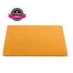 Vendita on-line di Sottotorta rigido quadrato arancio 30x30 h1,2 cm Decora