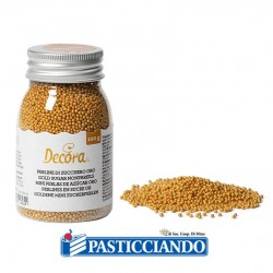 Vendita on-line di Perline zucchero dorate 100gr
