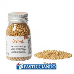Vendita on-line di Perline dorate zucchero 100gr