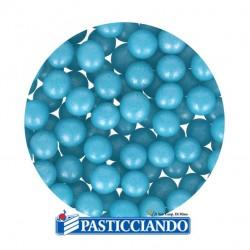 Vendita on-line di Perle in zucchero celeste 60gr GRAZIANO