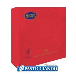 Selling on-line of Tovaglioli rossi 25x25 Okay più
