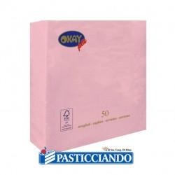 Vendita on-line di Tovaglioli rosa 25x25 Okay più
