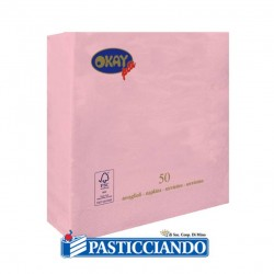 Selling on-line of Tovaglioli rosa 25x25 Okay più