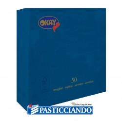 Selling on-line of Tovaglioli blu 25x25 Okay più