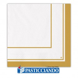 Selling on-line of Tovaglioli classic oro 33x33 Big Party