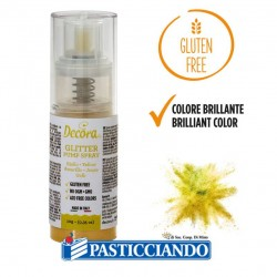 Selling on-line of Glitter spray giallo