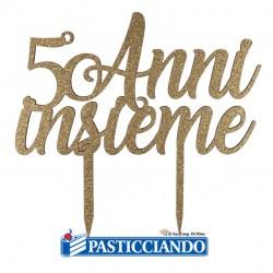 Selling on-line of Topper 50 anni insieme in legno oro GRAZIANO