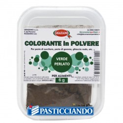 Selling on-line of Colore in polvere verde perlato 6gr