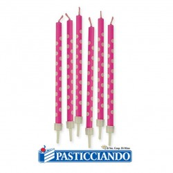 Selling on-line of Candeline pois fucsia 6pz