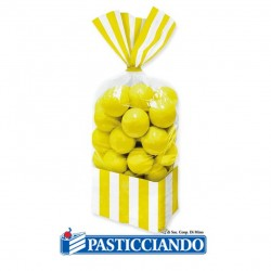 Selling on-line of Sacchettini strisce gialli 10pz Big Party