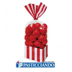 Selling on-line of Sacchettini strisce rosse 10pz Big Party
