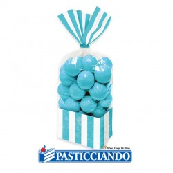 Selling on-line of Sacchettini strisce azzurre 10pz Big Party