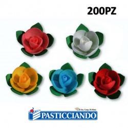 Rose in ostia con foglie 200pz Floreal in vendita online