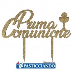 Selling on-line of Topper Prima Comunione oro in legno