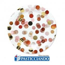 Selling on-line of Piatti coriandoli rosa D.18cm Big Party