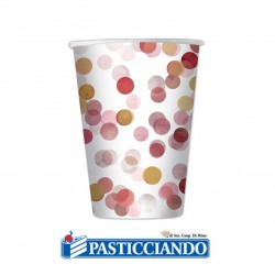 Selling on-line of Bicchieri coriandoli rosa 8pz 200cc Big Party