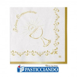 Selling on-line of Tovaglioli Prima Comunione calice oro