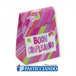Selling on-line of Scatoline Buon Compleanno rosa 25pz Big Party
