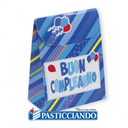Selling on-line of Scatoline Buon Compleanno celeste 25pz Big Party