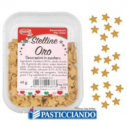 Selling on-line of Stelline oro in zucchero 40gr
