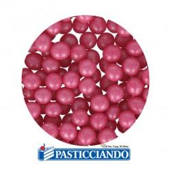 Vendita on-line di Perle in zucchero fucsia 60gr GRAZIANO