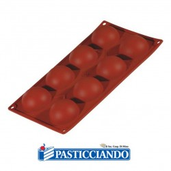 Selling on-line of Stampo in silicone semisfera 8 cavità FR038