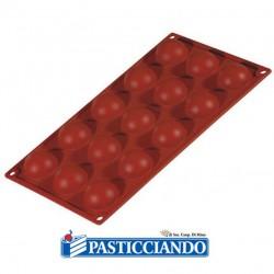 Stampo in silicone semisfera 15 cavità FR003 Pavoni in vendita online