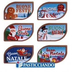 Vendita on-line di Targhetta Natale cioccolato Ambra's