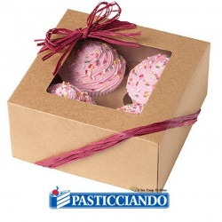 Selling on-line of Scatola per dolci naturale 3pz Wilton