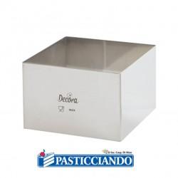Selling on-line of Quadrato inox 18X18 H6 cm Decora