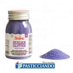 Selling on-line of Zucchero glitterato viola 100gr Decora