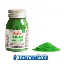 Selling on-line of Zucchero glitterato verde 100gr Decora