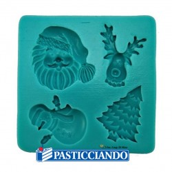 Selling on-line of STAMPO SILICONE NATALE 4 FORME GRAZIANO