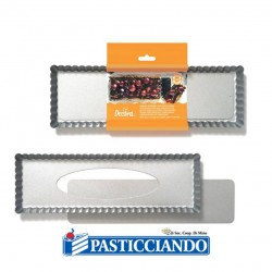 Selling on-line of Stampo crostata rettangolare 35x11 cm Decora