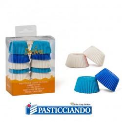 Selling on-line of Pirottini tartellette blu celeste bianco 120pz Decora
