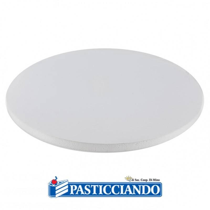 Sottotorta rigido rotondo bianco d.25 h1,2 cm - Decora