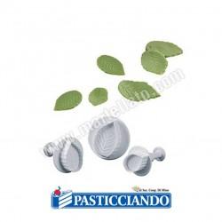 Selling on-line of Stampo espulsione foglie di rosa 3pz Martellato